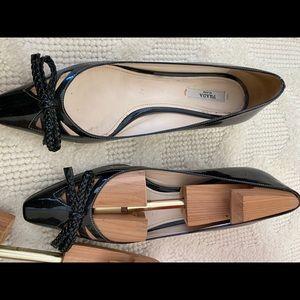 Gorgeous black patent leather Prada shoes